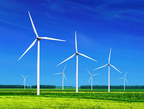 wind farm and wind turbines