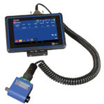 IQVu torque data collector conncted via cable to a checkstar multi torque transducer