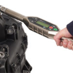 IQ Wrench torque wrench being utilised on critical engine fastenings