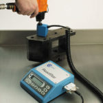 a readstar torque tester being used with a transducer