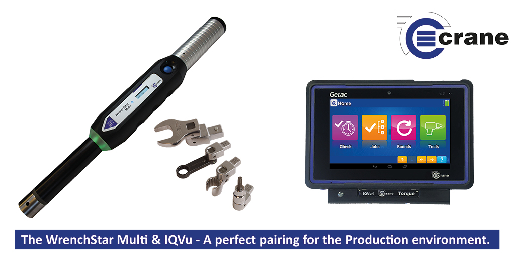 The IQVu torque data collector and the WrenchStar Multi digital torque wrench partnership