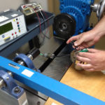 static torque transducer being calibrated by Crane electronics